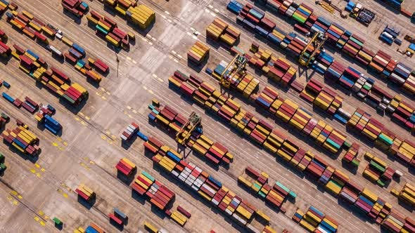 Thumbnail for Industrial Cargo Area With Container Ship in Dock at Port