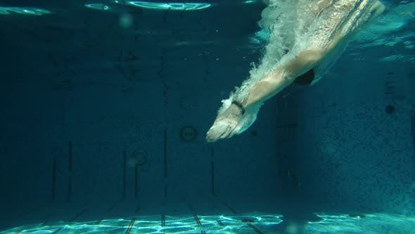 Thumbnail for Man Diving in Swimming Pool