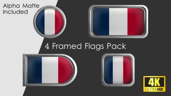 Thumbnail for Framed France Flag Pack
