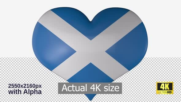 Thumbnail for Scotland Flag Heart Spinning