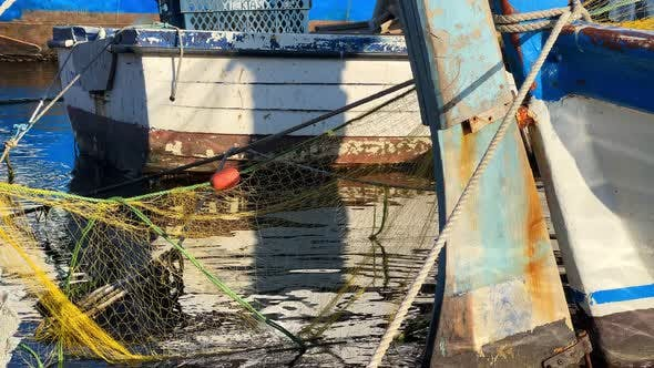 Fishnet And Fishing Lines And Fishing Boat 2
