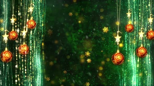 Thumbnail for Christmas Decorations Background 1