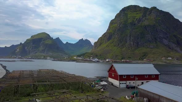 Thumbnail for Aerial View of Small Village in Norway