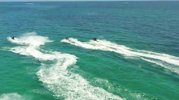 Aerial Video Group Jet Ski Tour Miami