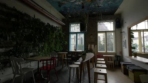 Interior of a coffeehouse