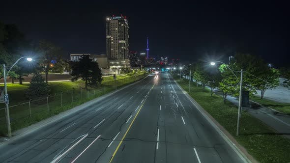 Thumbnail for Time Lapse Motion Control Highway And Downtown Toronto With Cn Tower