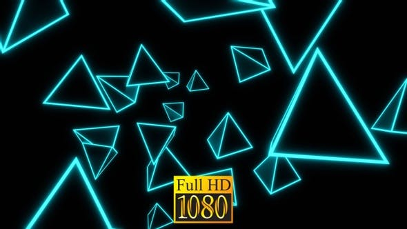 Vj Loop Flying Shimmering Pyramids HD
