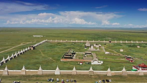 Thumbnail for Luftaufnahme des Kharkhorin Erdene Zuu Klosters