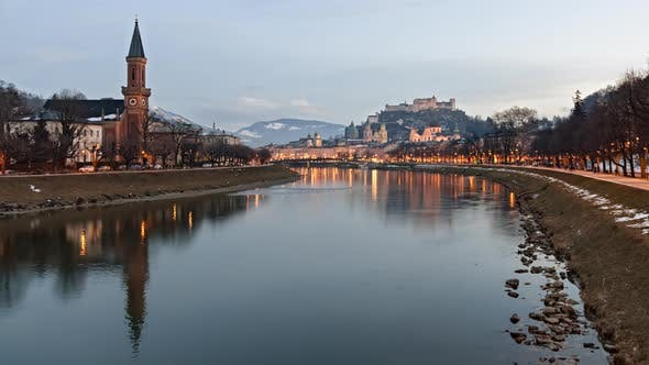 Thumbnail for Evening Hyperlapse of Salzburg Old Town