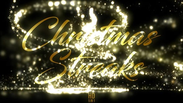 Cover Image for Gold Christmas Streaks