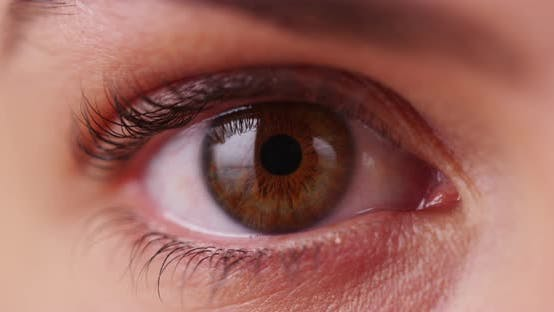 Thumbnail for Extreme close up of Caucasian millenial's iris