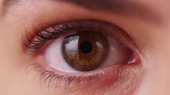 Extreme close up of Caucasian millenial's iris