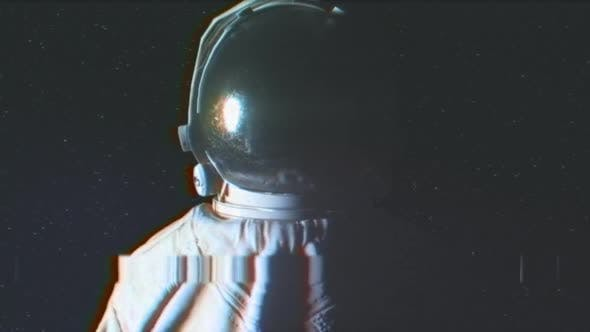 Thumbnail for Circular Light Flashes Around an Astronaut on Starry Background