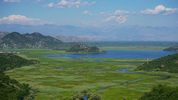 Skadar See in Montenegro im Sommer, Zeitraffer