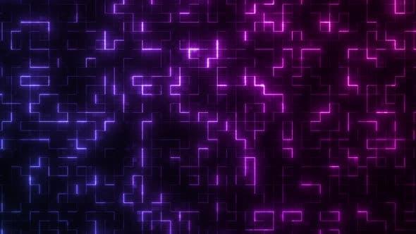Glowing Neon Cyberpunk Loop 4K