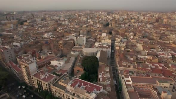 Cover Image for Aerial Morning Flight Above Valencia, Spain