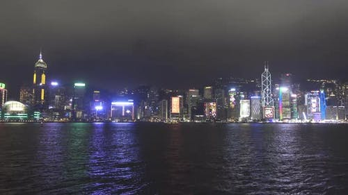 Hong Kong at Night, Victoria Harbour