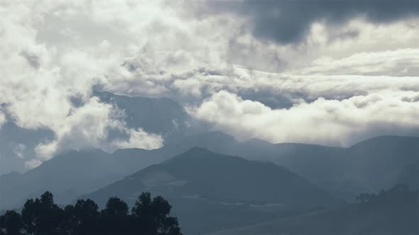 Thumbnail for The Cayambe Mountain during a cloudy day as seen from Quitsato Sundial (close-up)