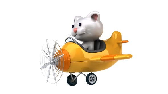 Thumbnail for Cat in a plane