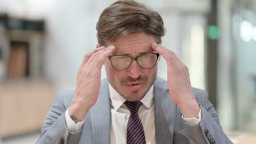 Headache, Stressed Businessman
