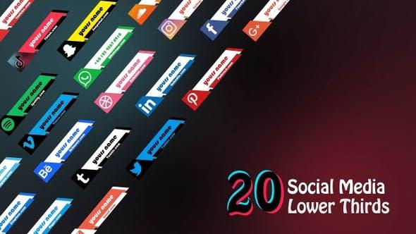 Thumbnail for Social Media Lower Third Pack 2