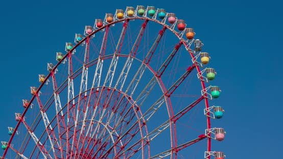 Thumbnail for Ferris Wheel with clear blue sunny sky