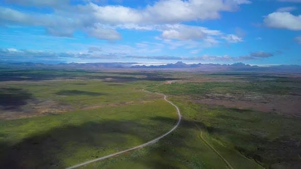Thumbnail for Drone Flies Above Volcanic Area in Iceland