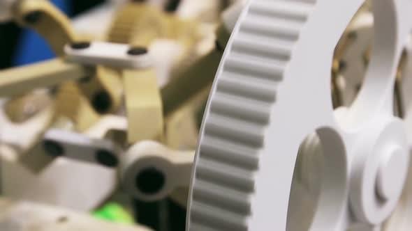 Thumbnail for Getriebemechanismus mit Zahnrädern und Getrieben aus PVC-Polymeren