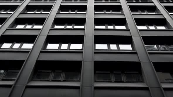 Thumbnail for Steadicam Shot: Modern Buildings in Old European City. Facades of Houses