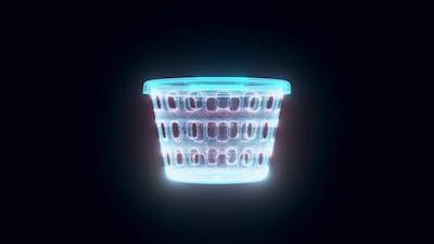 Laundry Basket Hologram 4k