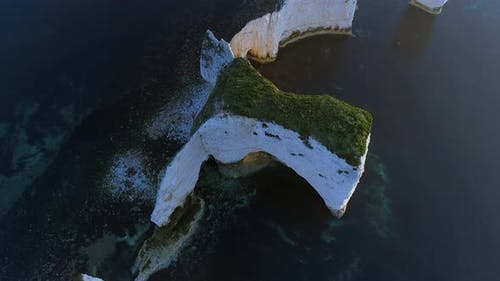 Aerial View of Chalk Cliffs on the Jurassic Coast in England