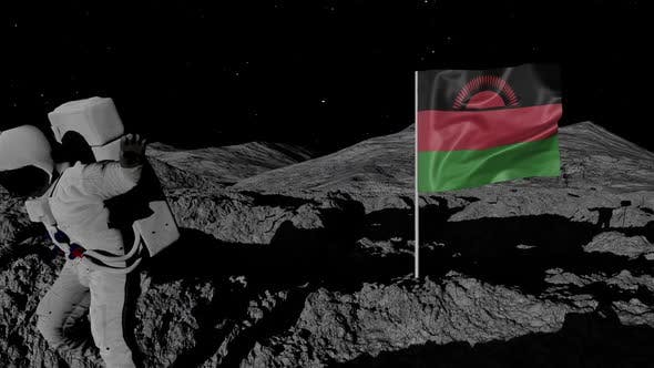Thumbnail for Astronaut Planting Malawi Flag on the Moon