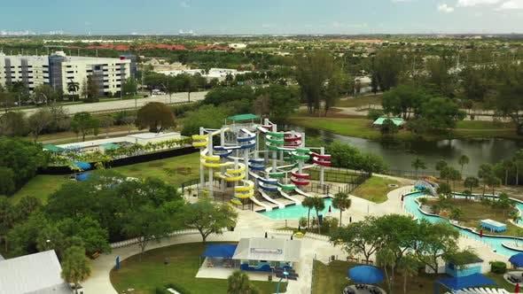 Water park closed during coronavirus Pandemic Covid 19