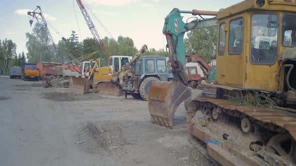 Various industrial vehicles