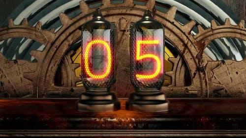 Steampunk Tube Countdown