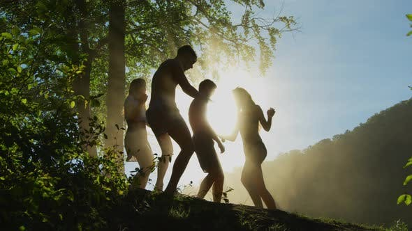 Thumbnail for Young people dancing on a hill