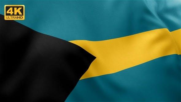 Thumbnail for Flag of Bahamas - 4K