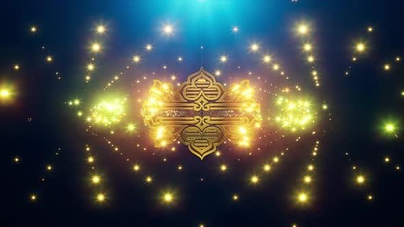 Gold Oriental Background