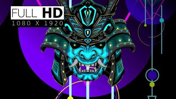 Japanese Neon Mask 03