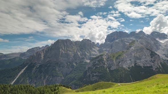 Thumbnail for dolomites alps italy mountains peaks timelapse