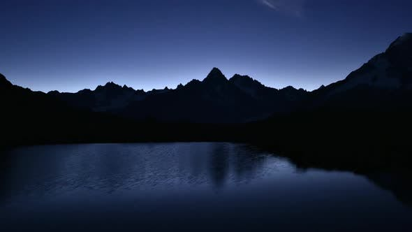 Thumbnail for Picturesque Night View of Chesery Lake in France Alps