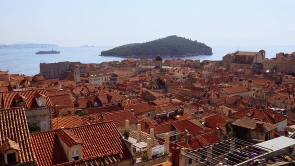 Thumbnail for Rooftops inside Dubrovnik's Old Town Walls, Croatia