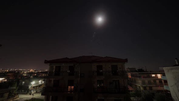 Thumbnail for Timelapse of Night in the Town