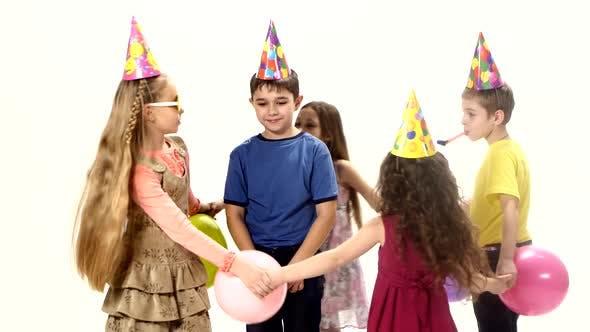 Five Children Dance in Circle