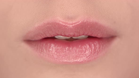 Thumbnail for Lips of a beautiful girl close up