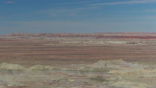 Flying toward the Little Painted Desert in Winslow Arizona
