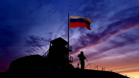 Thumbnail for Russian Soldier On The Border At Night At The Border