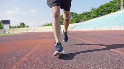 Feet Running On The Track