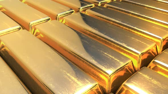 Cover Image for Close Up View of Raw Gold Bars, 4K