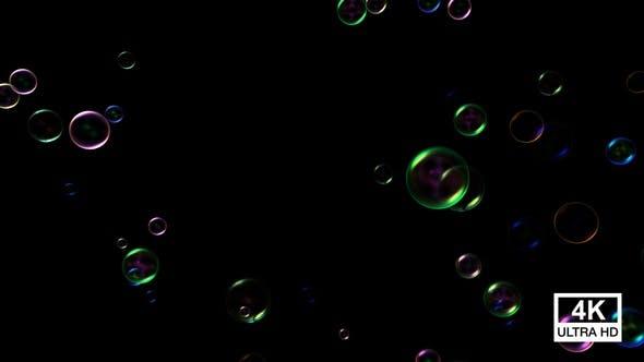Thumbnail for Rainbow Soap Bubbles Slowly Rising 4K